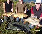 Common carps - 15.4 Lbs, 19.8 Lbs and 22 Lbs